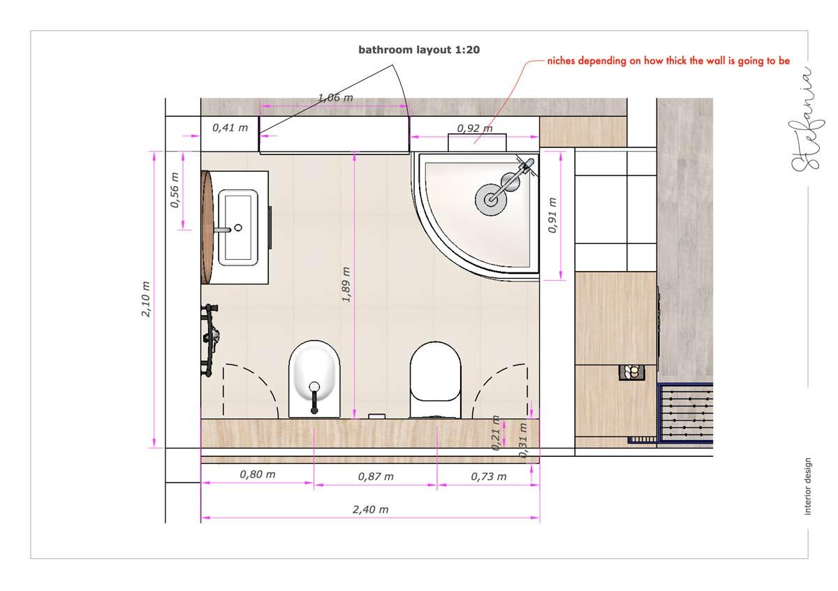 badkamer ontwerp zolder concept