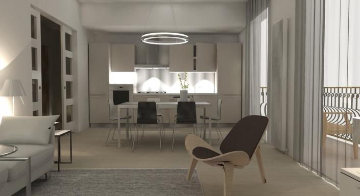 Modern Appartement Ontwerp Keuken